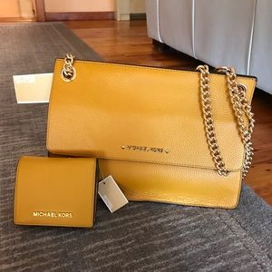 Michael Kors Crossbody Bag and Matching Wallet